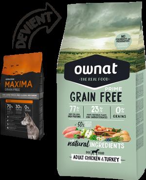 "Maxima Grain Free ""devient Ownat"""